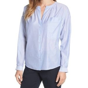 Nordstrom Signature Tie back stripe blouse 7814